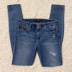 Joe's Medium Wash Distressed Denim Jeans Size 27
